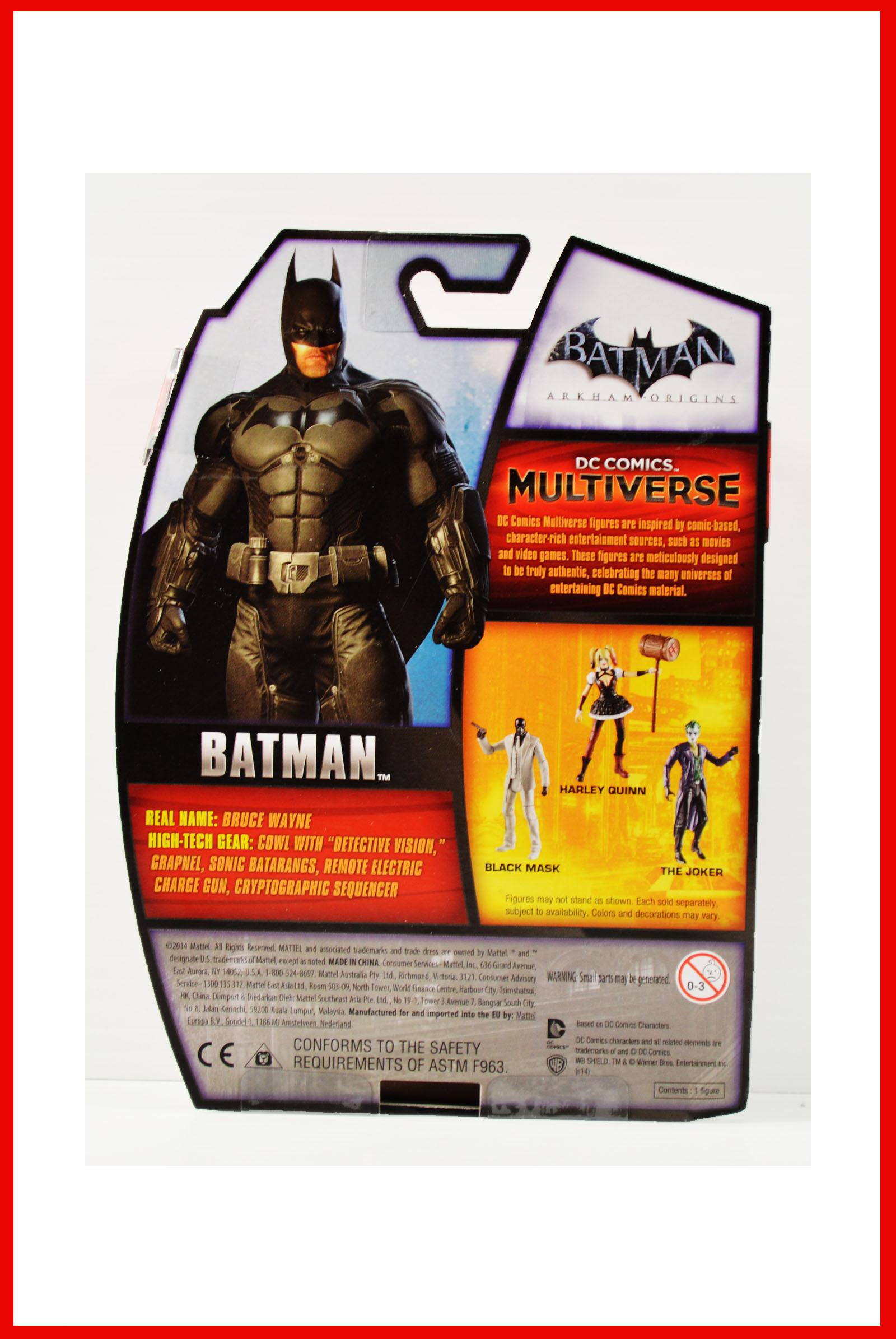 DC Comics Multi-Univers Arkham Origins Batman 3.75 FIGURINE Mattel Toys