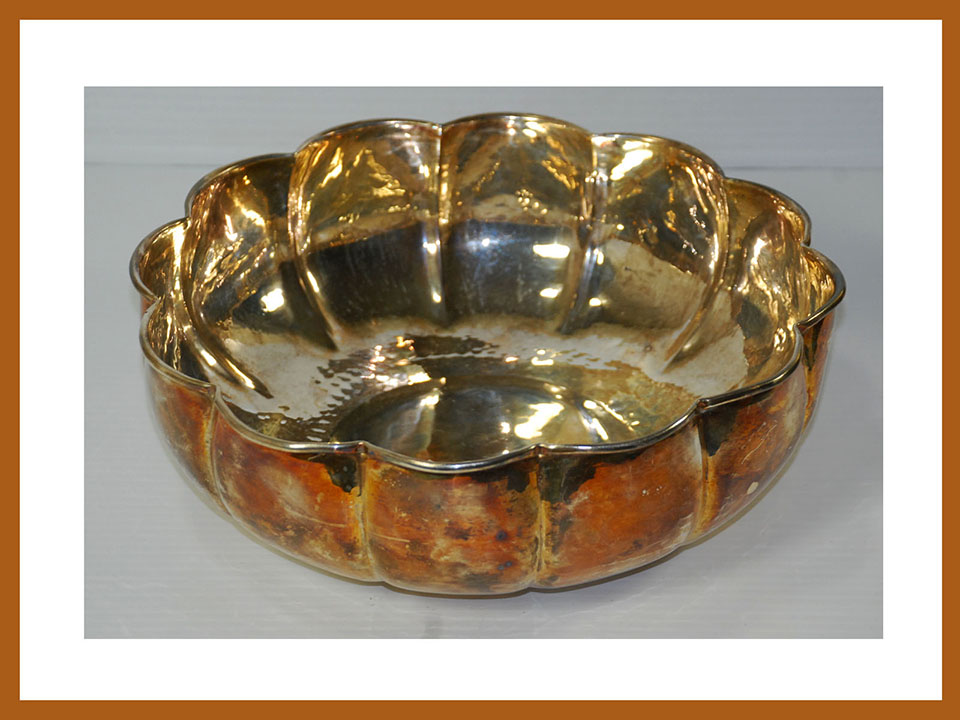 the latest 9e67d a53c1 Details about Padova G. B. Sport Silver Plated Hand Hammered Made in Italy  Serving Bowl