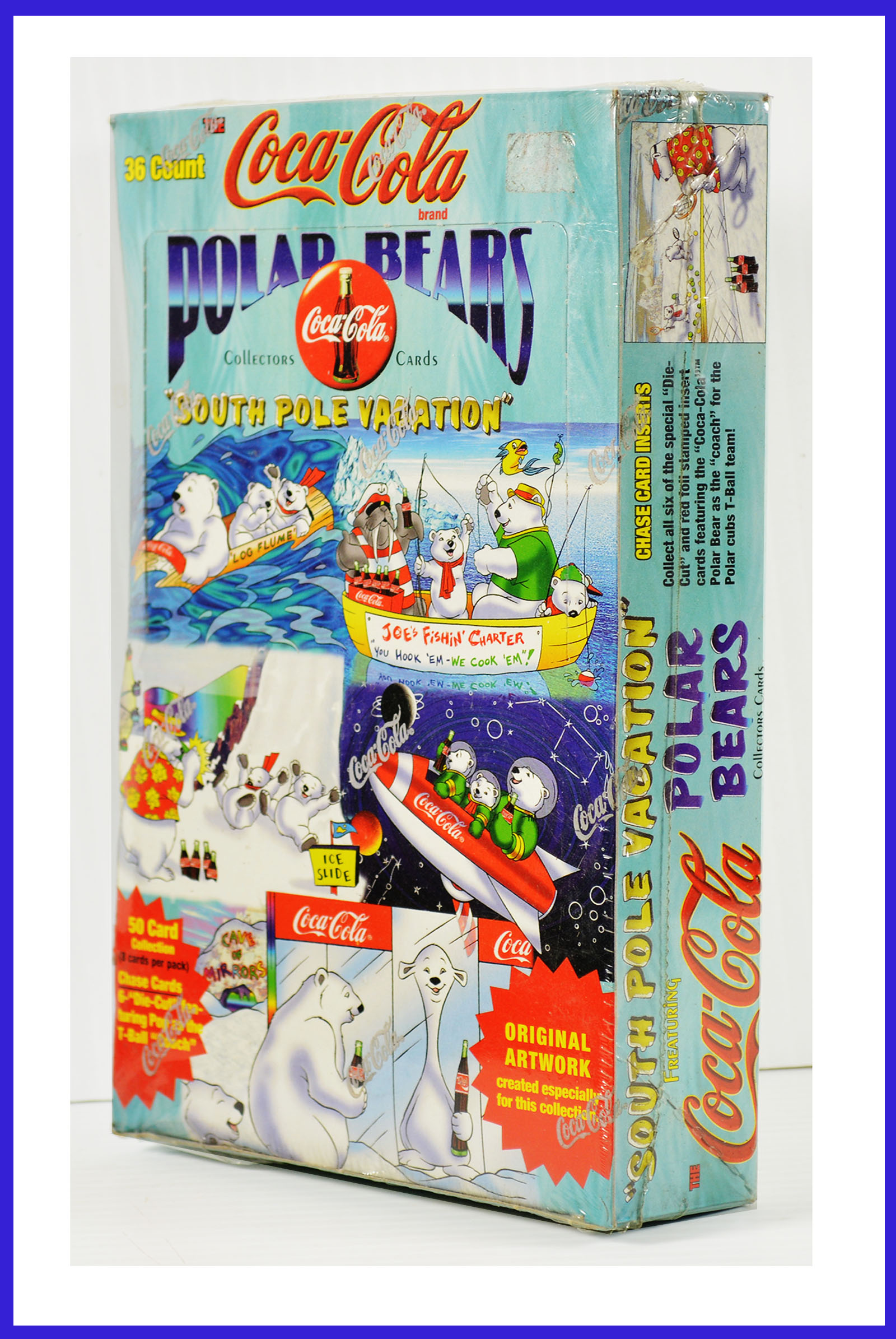 Coca-Cola South Pole Vacation Coke Polar Bears Trading Card Box 36 packs of 8