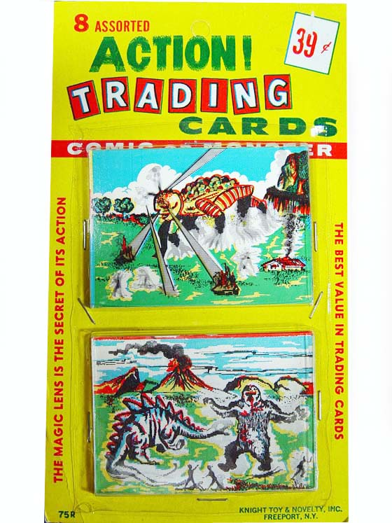 Knight Novelty 1960s King Kong Flicker Comic Of Monster Trading Cards Pack=