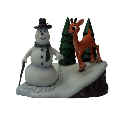 2001 Rudolph and Scoop Collectible Resin Statue The Island Of Misfit Toys