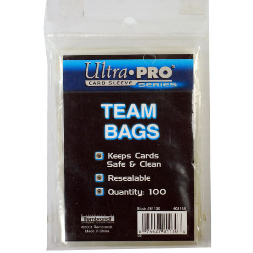 Ultra Pro Team Bags Card Sleeve Series Clear Cards Holders