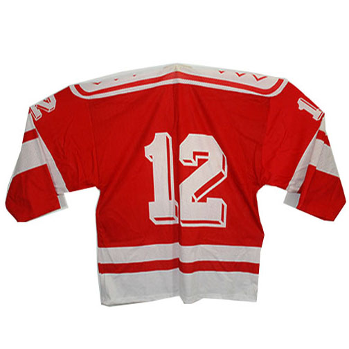 Russian Official CCCP Game Used Hockey Red Jersey #12 Made By Tackla